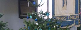 Christmas Trees decorated at St Georges Church