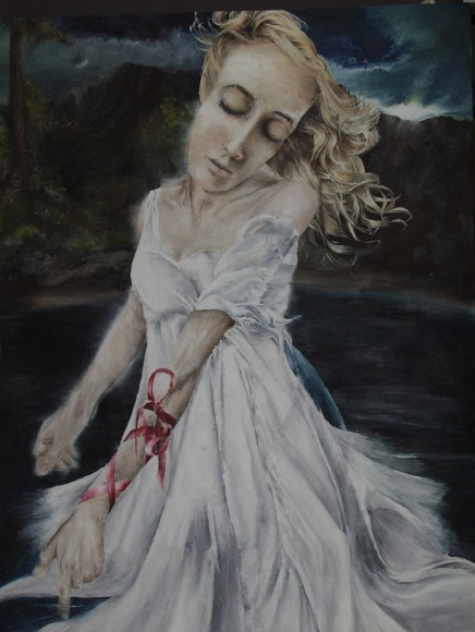 Katie Lewendon, Year 11, 'The loss of innocence', oil on paper, 60cm x 85cm